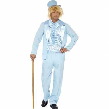 Blauw verkleedpak heren