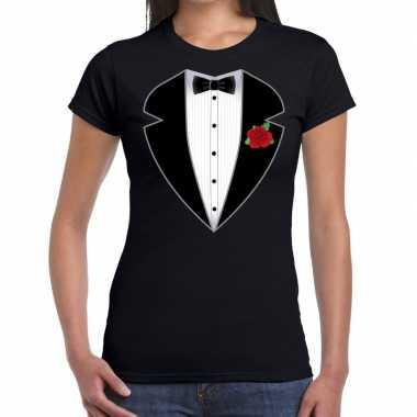 Gangster / maffia pak pak t shirt zwart dames