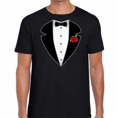 Gangster / maffia pak pak t shirt zwart heren