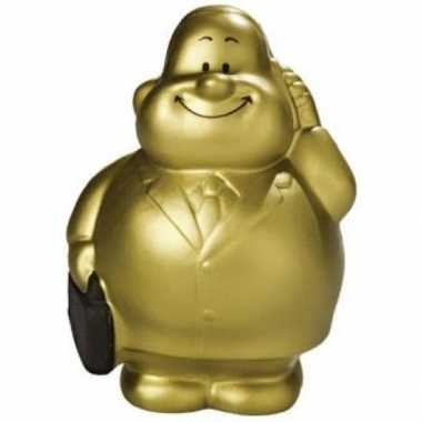 Gouden knijpballetje zakenman pak