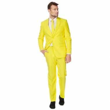 Luxe pak heren geel
