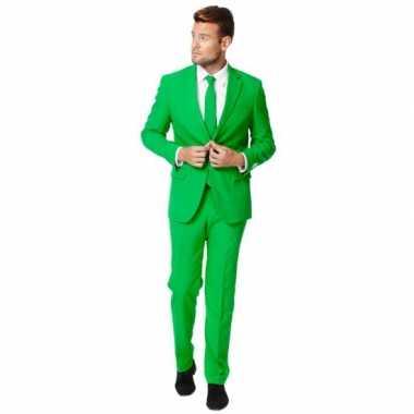 Luxe pak heren groen