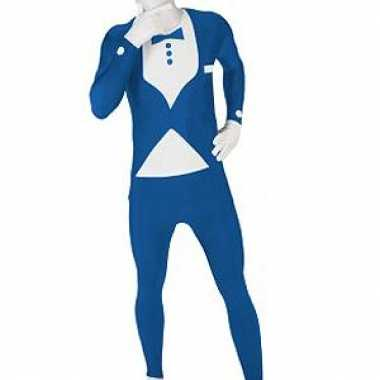 Morphsuit pak blauw pak