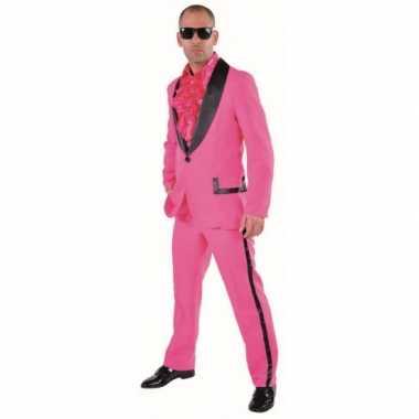 Roze maatpak heren